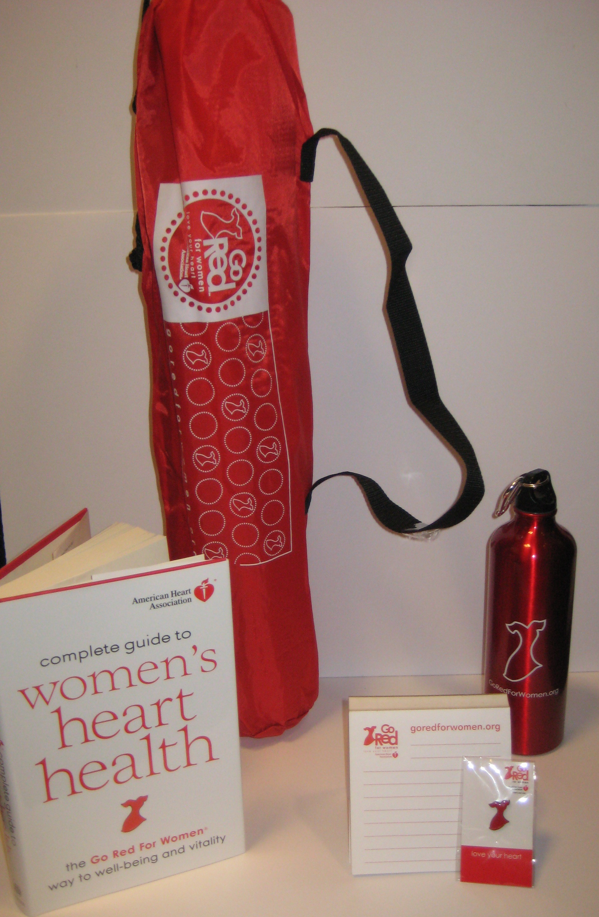 Share with us your favorite red thing in the comments below for your chance to win this Go Red package from the American Heart Association.