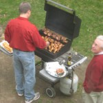 """...have a great meal cooked by my husband Pete (and overseen by my father-in-law), while my son Nick coined the phrase, """"Where there's smoke, there's Pete.""""..."""