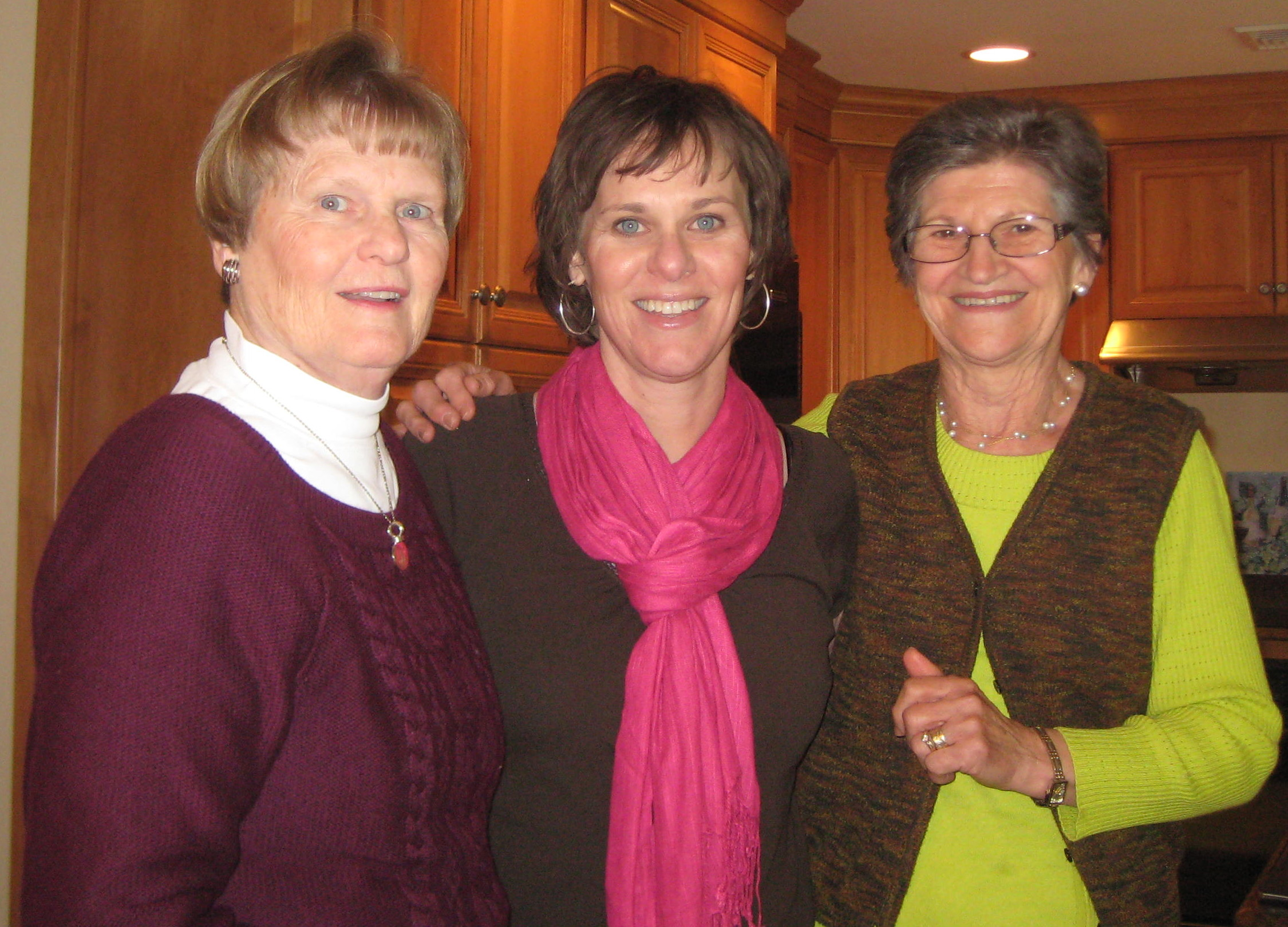 ...celebrated Mother's Day -- and 2 1/2 years in remission from cancer -- with my family. My mom is on the left and my mother-in-law is on the right. I am crouching so they don't look like they've shrunk.