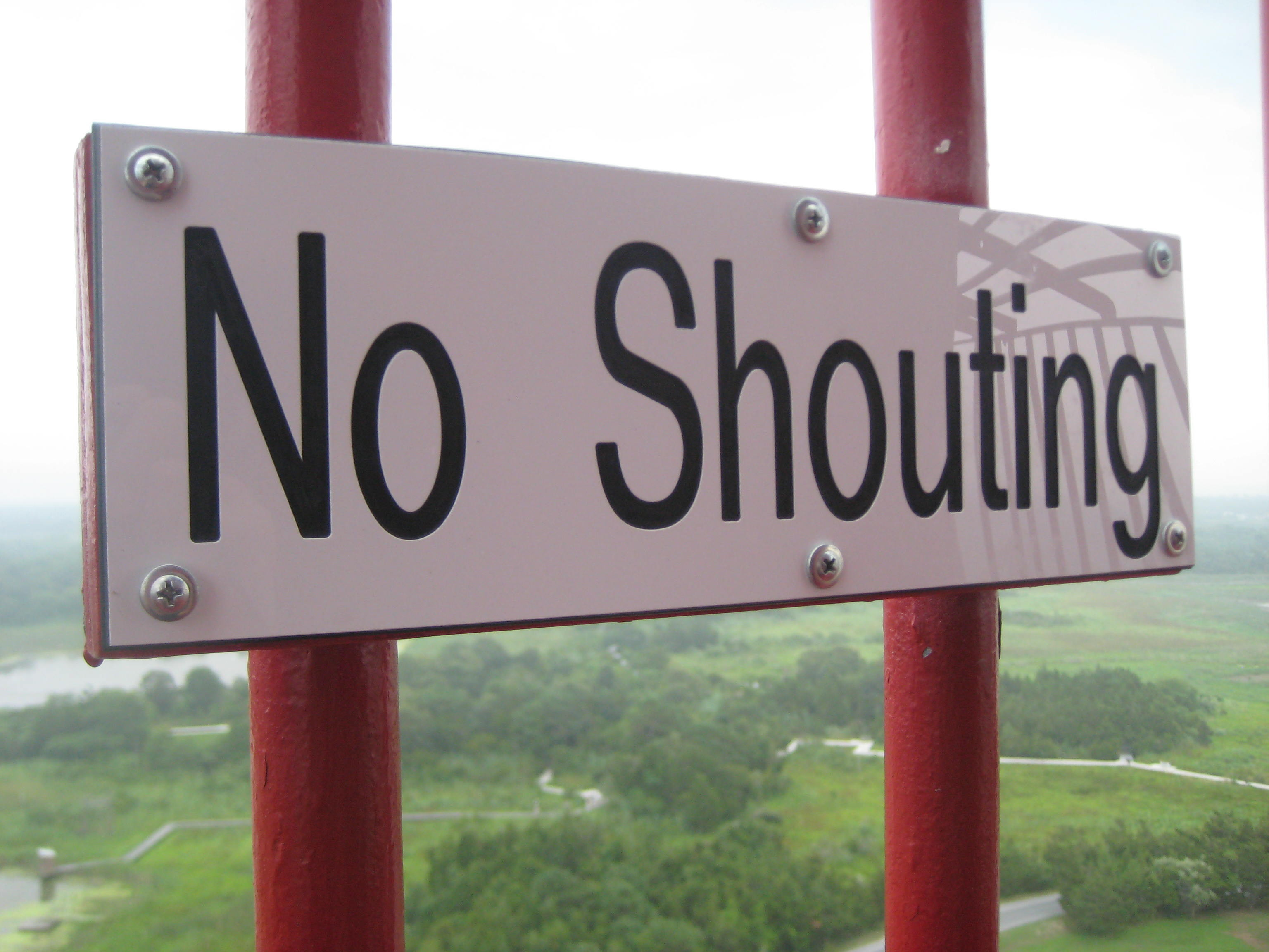 no-shouting