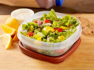 Tupperware with lunch