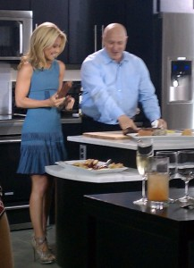 Kelly Ripa and Tom Collichio