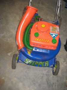 painted lawn mower
