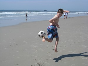 soccer on beach