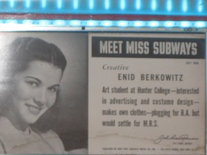 Miss Subways sign