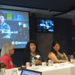 (l to r) Tracy Smith, CBS; Liz Vachon, social worker;  Lisa Cagno, mom of bullying victime; Susan Zirinsky, CBS