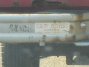 Rugby Players eat their dead
