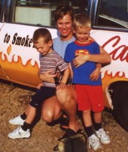 Jen Singer with kids