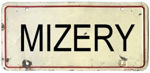 Mizery license plate