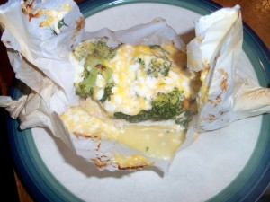 Parchment Broccoli and Cheese