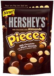 Hershey's pieces with almonds