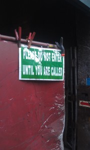 Do No Enter Sign