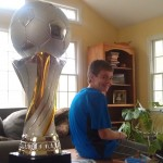 Protecting the Big Honkin' Soccer Trophy