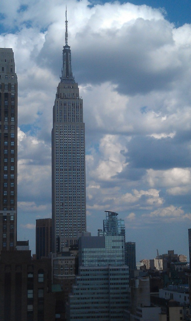 empire state building from the New Yorker Hotel