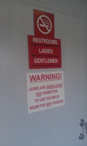 Nathan's bathroom sign