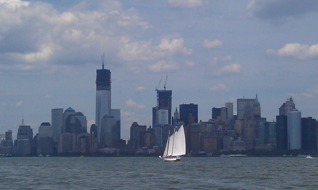 NYC skyline from NY Harbor