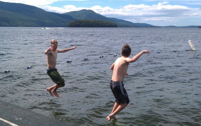 jump in lake