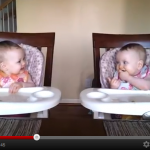 Twin Babies Dancing to Dad&#039;s Music