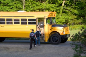 school bus kids