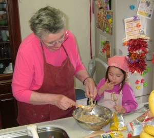 grandmother baking
