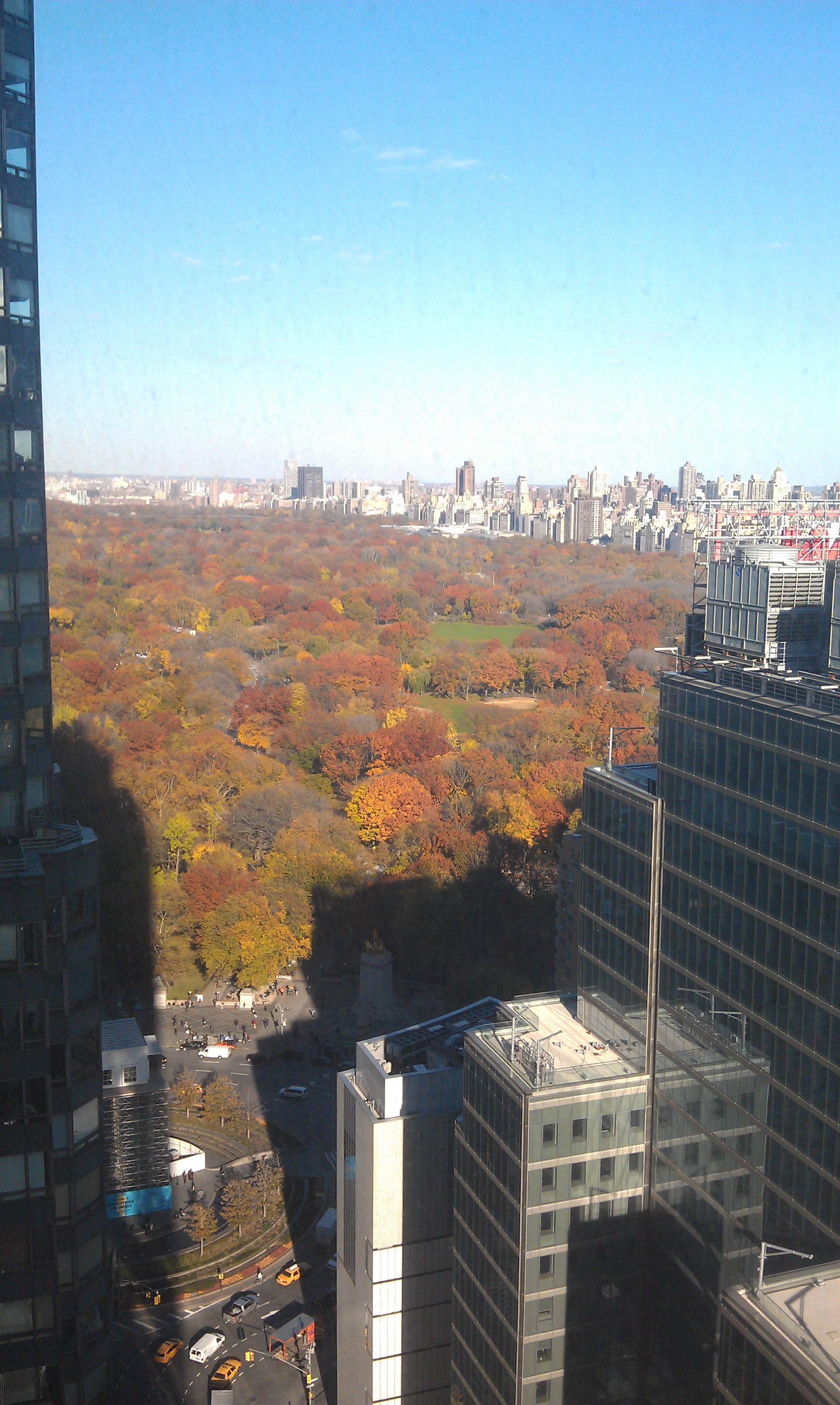 View of Central Park from Hearst building