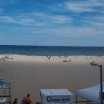 Point Pleasant Beach from atop the Boardwalk Bar & Grill, September, 2012. (No filter)