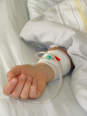 child with iv