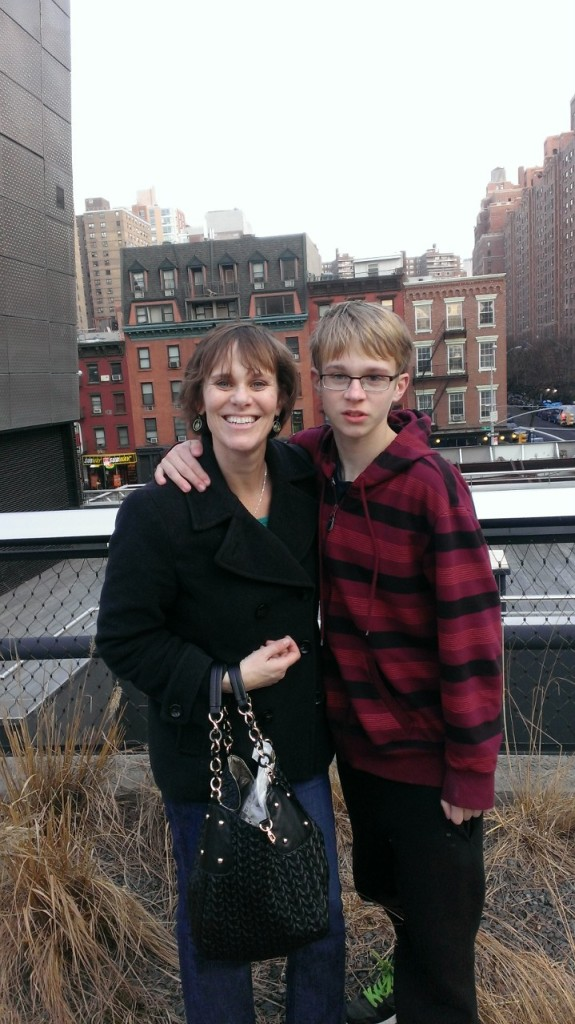 Jen Singer and son