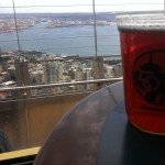 A Scuttlebutt beer atop the Space Needle in Seattle.