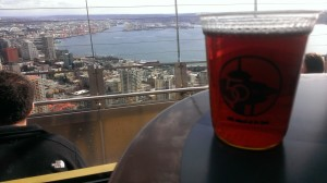 Beer on Space Needle
