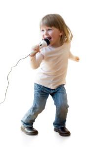 girl on mic