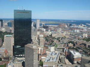 Boston Prudential building view