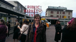 Jen Singer at Pike's Place Market