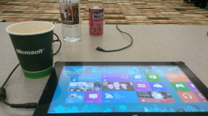 Tablet at Microsoft conference room