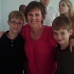 My boys and me, during remission.
