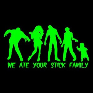 zombie family sticker