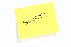 apologize