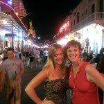 Double comeback: Post divorce and #Bronchitis2013 with my college pal Stephanie on Bourbon Street.