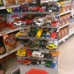 You Beautiful Toy Car Display in the Pancake Mix Aisle